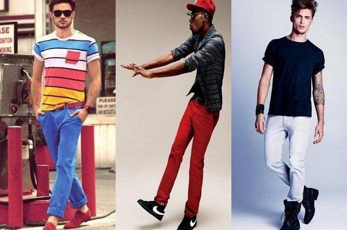 Jeans colorido masculino modelos e cores bem modernos