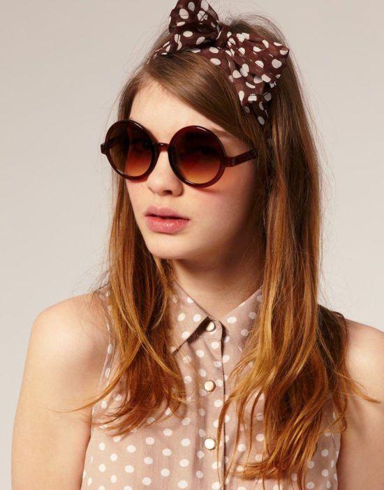 Óculos redondo feminino modelinhos interessantes para curtir o sol e ... 3b9eb7d515