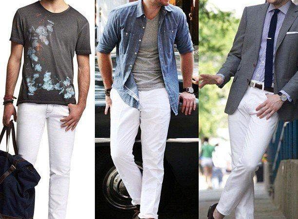 Calça branca masculina fotos