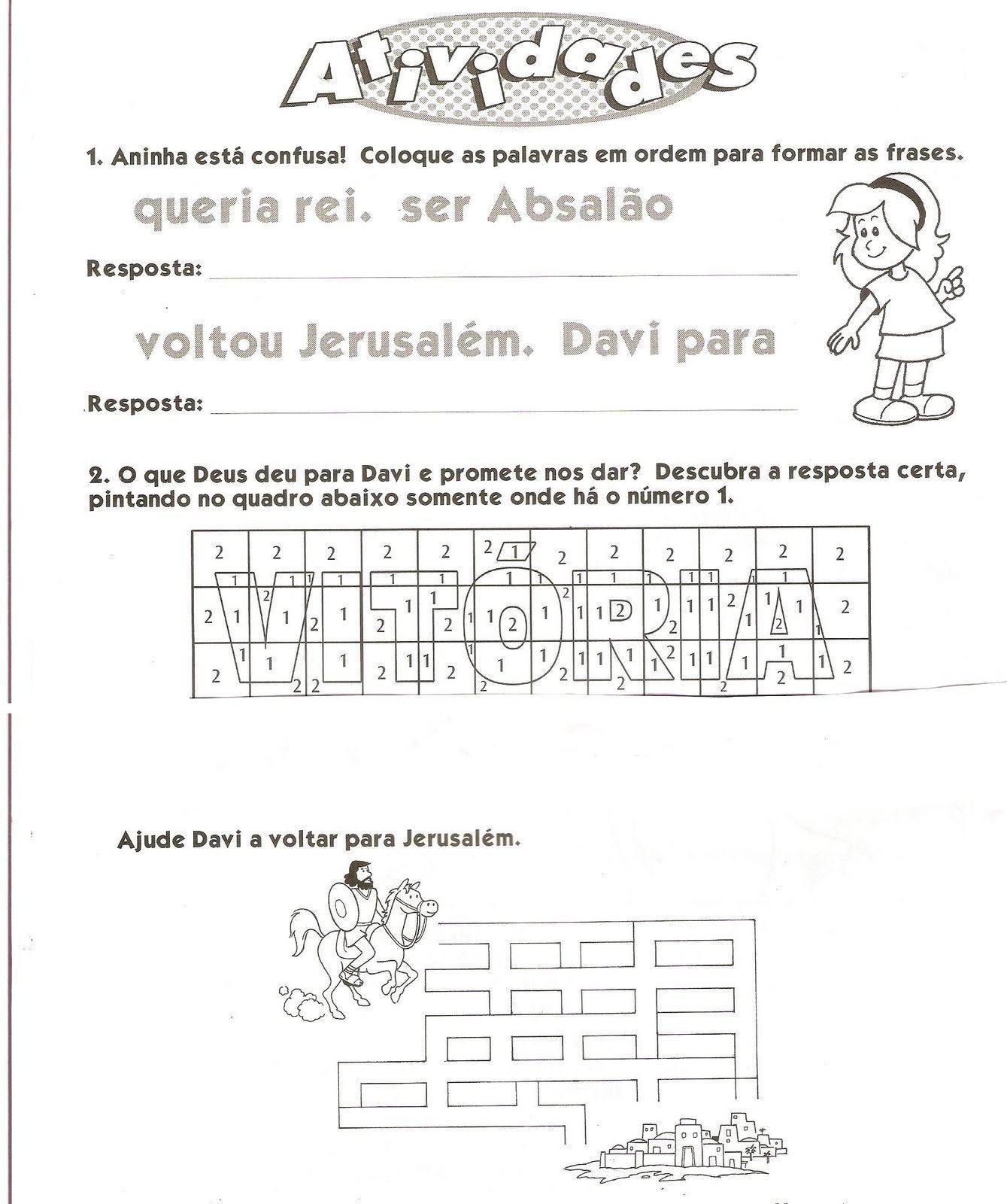 Fabuloso Atividades para Gincana Bíblica para crianças | Na Internet DW66