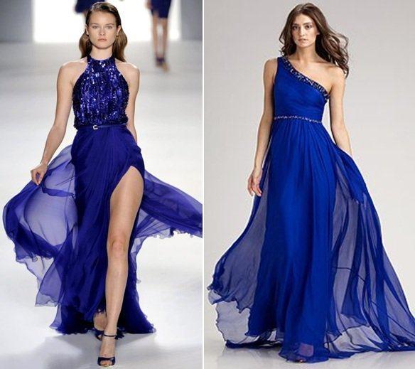 Bolsa De Festa Azul Bic : Lindos vestidos azul royal de festa na internet