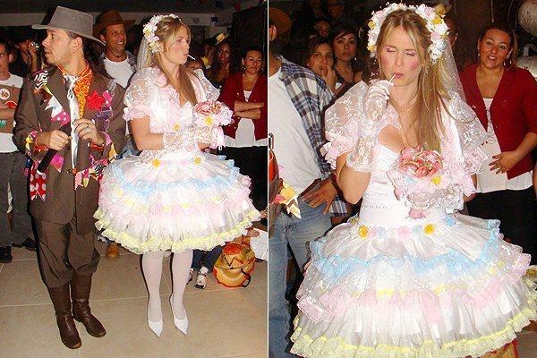 Modelos de vestido para festa junina de noiva