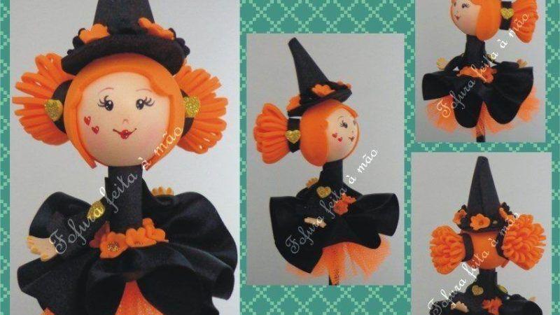 Lembrancinhas de Halloween em EVA para imprimir ou compartilhar