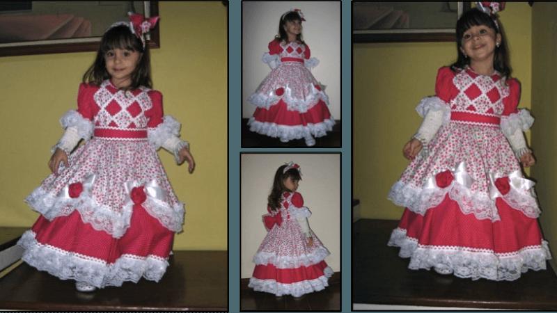 Belos modelinhos de vestidos juninos infantil