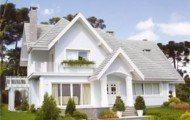 fachadas de casa americana