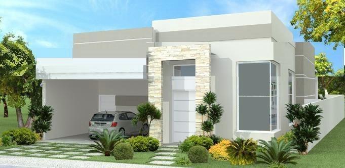 Modelos de casas fachadas modernas na internet for Casas pequenas de una planta modernas