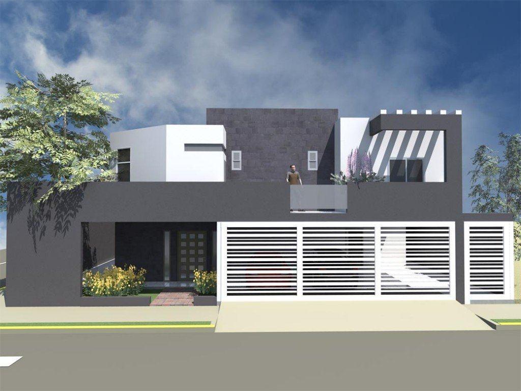 Modelos de casas fachadas modernas na internet for Pintura de exteriores de casas pequenas