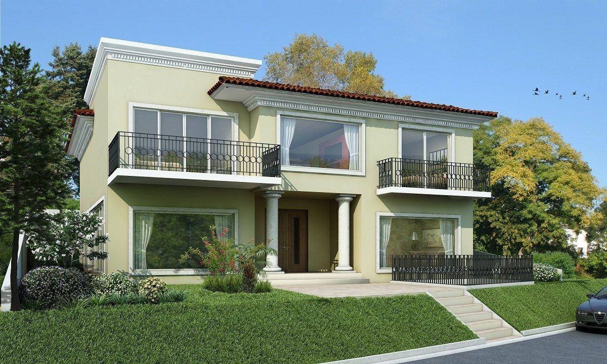 Modelos de casas fachadas modernas na internet for Disenos para frentes de casas