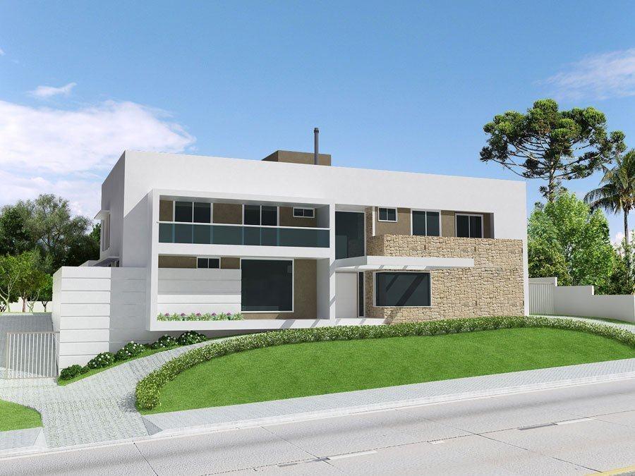 Modelos de casas fachadas modernas na internet for Modelos de casas medianas