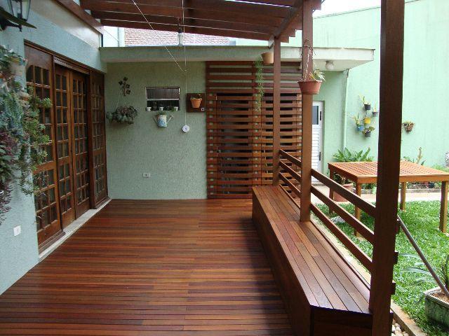 Deck de madeira para jardim vertical para flores Na Internet