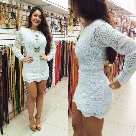 vestido-branco-curto-e-justo-de-manag-longa-croche