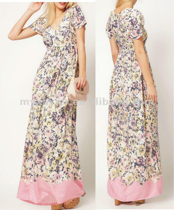 Vestidos longos baratos para estar na moda sem gastar muito Na