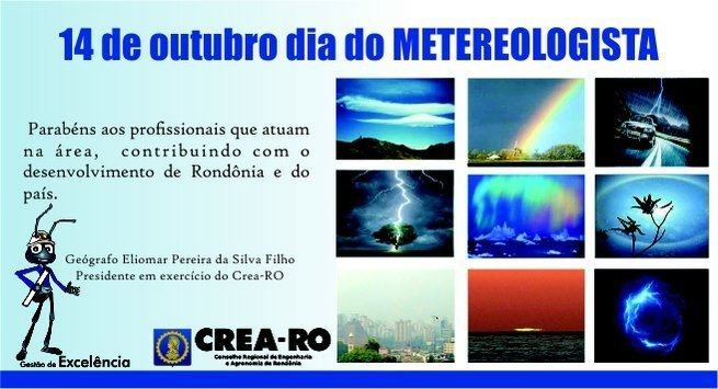 14 de outubro dia do metereologista