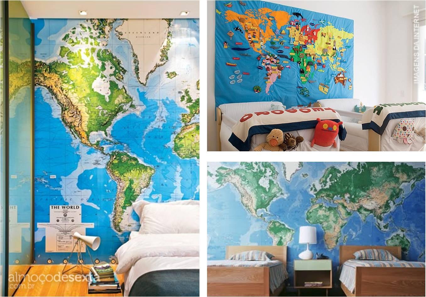 Papel de parede para quarto mapa mundi - Papel pared mapa mundi ...