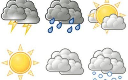 desenhos de nuvens nublada de chuva sol neve