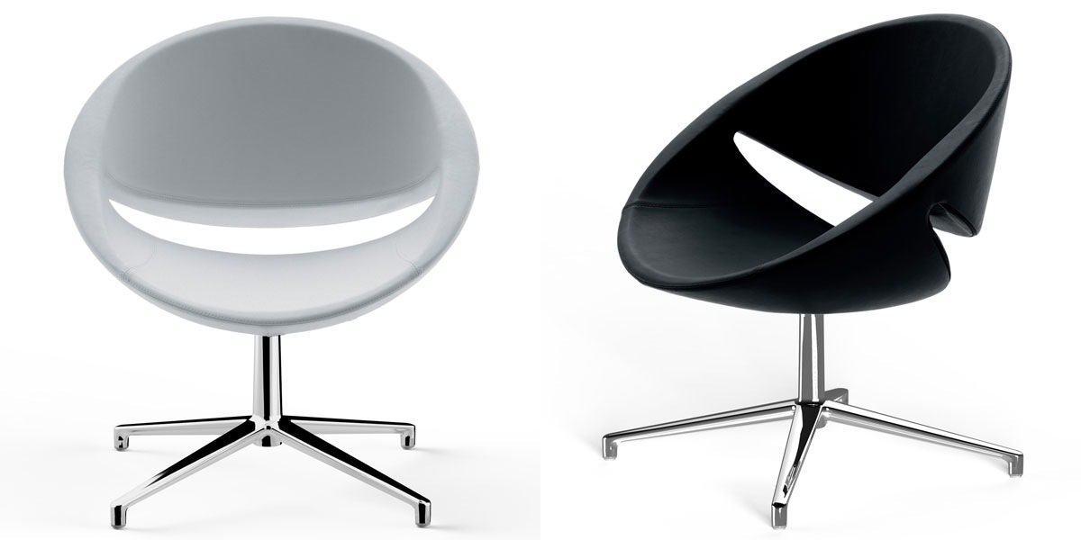 modelos de poltronas branca e preta para sala de estar