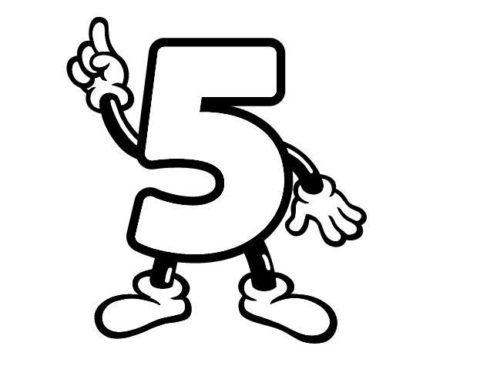 numeros-para-colorir-cinco
