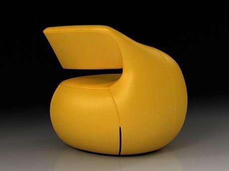 poltrona moderna amarela