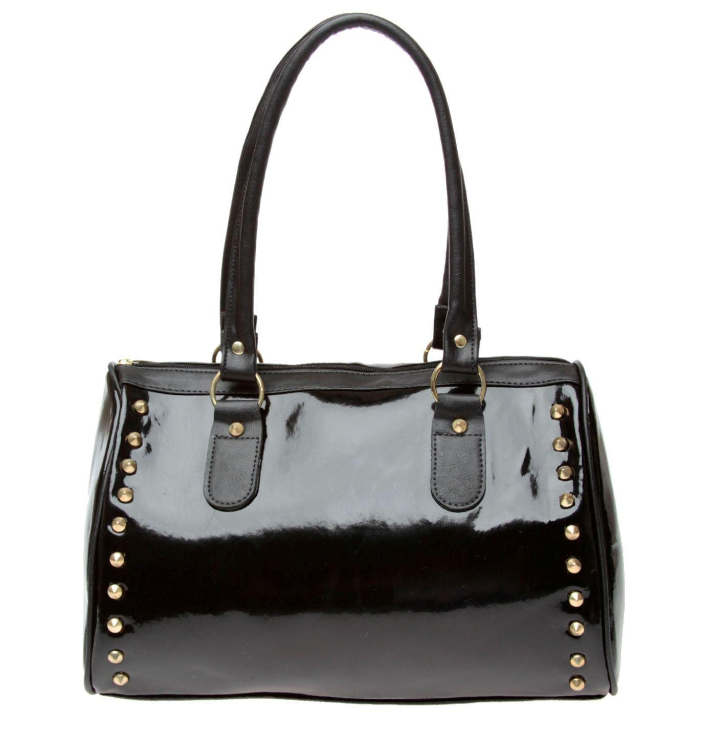 Bolsa De Mão Preta Verniz : Belas bolsas femininas moda inverno de verniz e