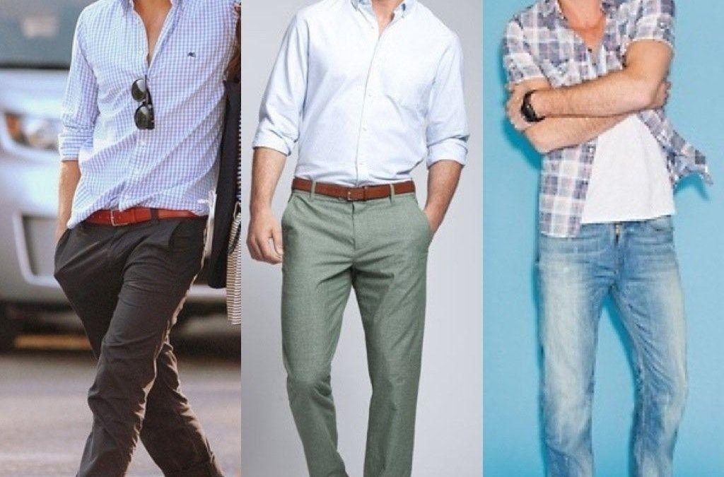 Looks casuais masculinos com camisa xadrez e calça jeans