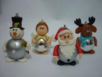 fotos de lembrancinhas natalinas em biscuit