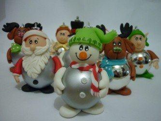 modelos de lembrancinhas natalinas em biscuit