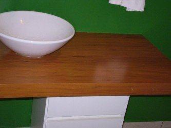 moderna bancada de banheiro em mdf