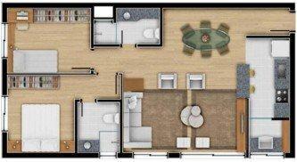 plantas de casas 70m2 com 2 quartos