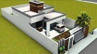 plantas de casas 70m2 com 2 quartos 3d