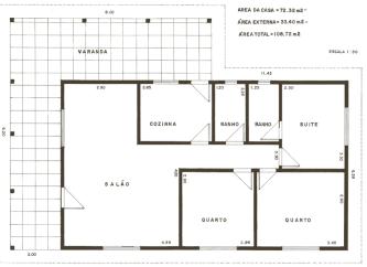 plantas de casas 70m2 com 2 quartos para imprimir