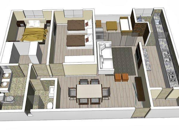 Plantas de casas com 3 quartos arquitetura moderna na for Plantas de casas tipo 3 modernas