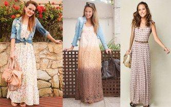 vestidos longos de ir a igreja