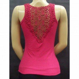 blusa de renda nas costas rosa