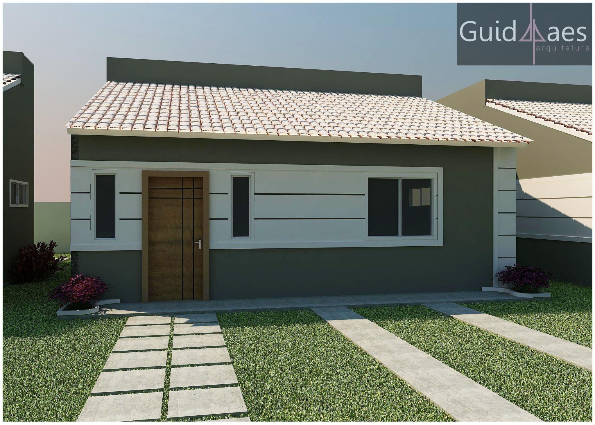 Confira a apar ncia das fachadas de casas populares na for Modelos de fachadas para casas
