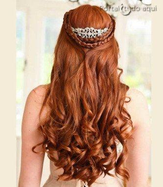 penteados de festa semi presos