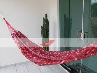 rede de dormir camuflada vermelha