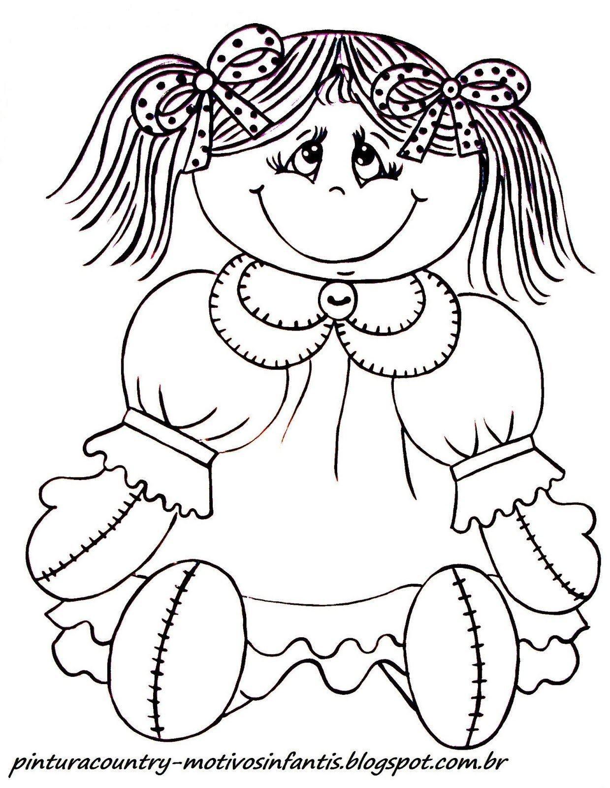 Desenhos De Bonecas Para Pintar Brincadeiras Para Meninas