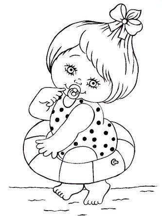 desenhos de bonecas para pintar em fraldas