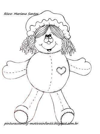 dicas de desenhos de bonecas de pano para pintar