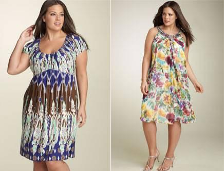 modernos vestidos de malha para gordas