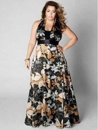 vestidos de malha para gordas floral