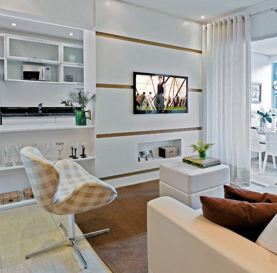 Sala Pequena Em L Decorada ~ Sofás para sala de TV pequena – Veja salas decoradas