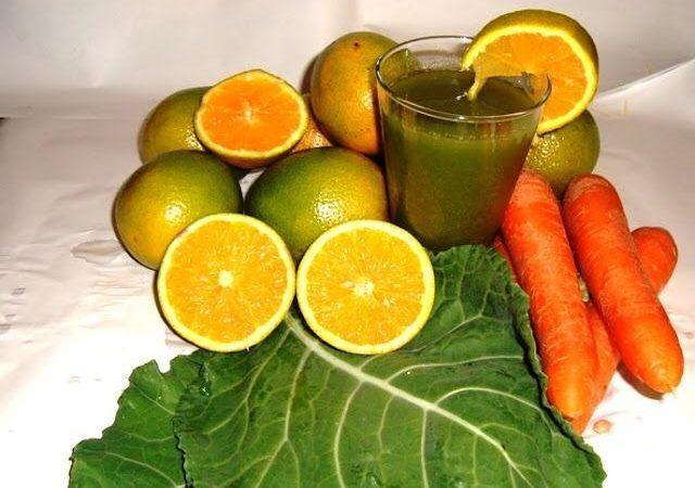 Receitas de Suco de cenoura, couve e laranja E seus benefícios para saúde