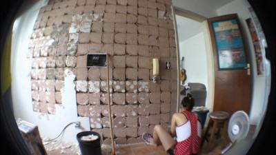 como ir tirando azulejos antigos das paredes