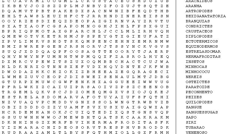 Caca Palavras Para Brincar E Imprimir Infantil