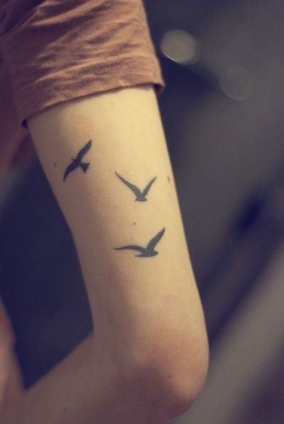 Tatuagens De Pássaros Femininas Em Fotos