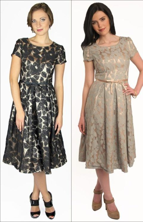 vestidos de festa para senhoras de 50 anos Modelo Midi