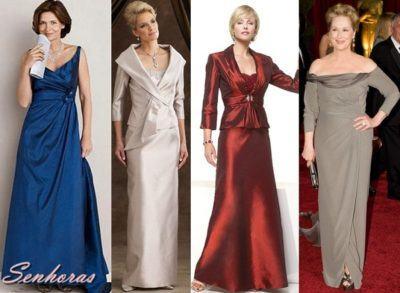 vestidos de festa para senhoras de 50 anos longos