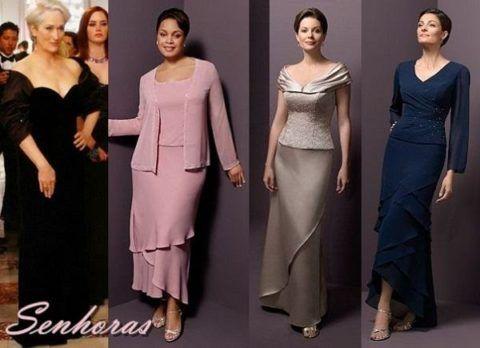 vestidos de festa para senhoras de 50 anos modelos
