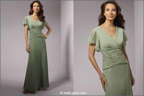 vestidos de festa para senhoras de 50 anos simples
